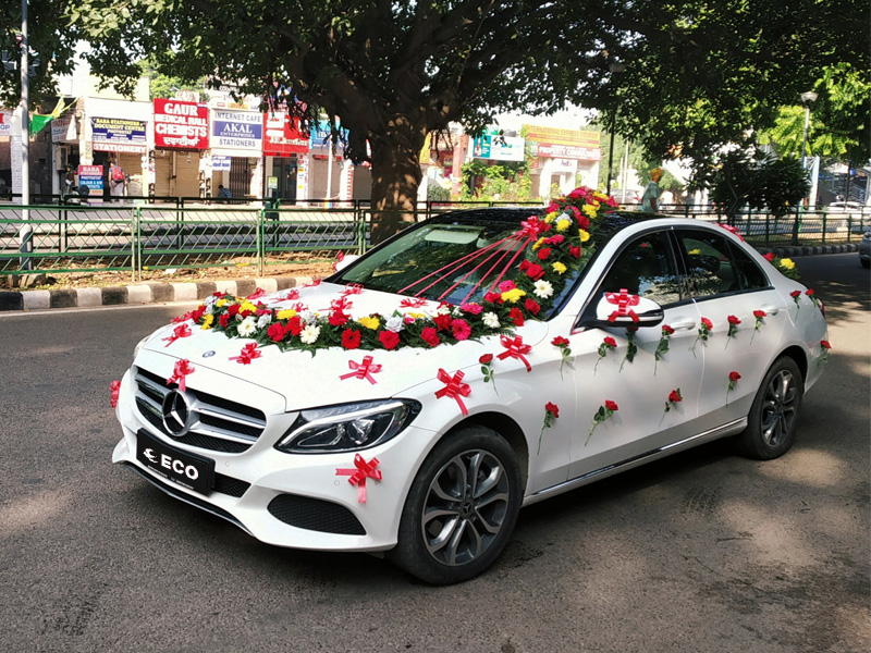 Mercedes car for wedding
