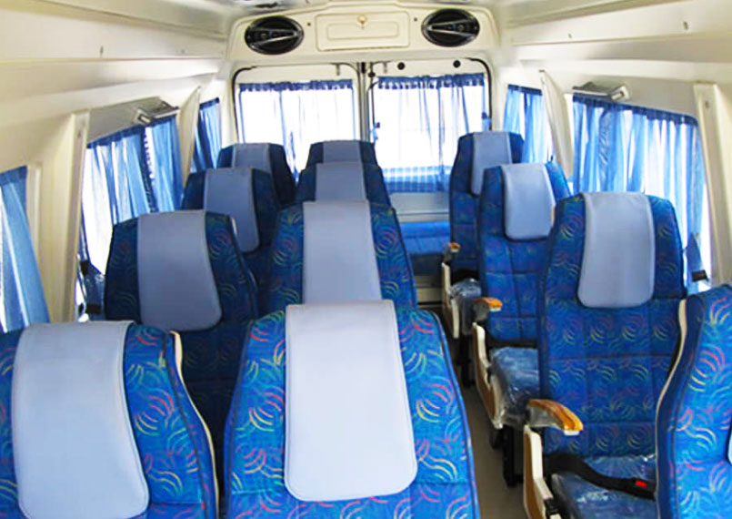 Tempo Traveller Interior Product Imgs