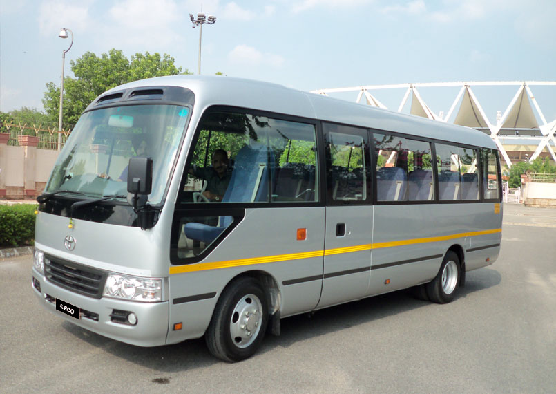 Toyota Coaster on rent