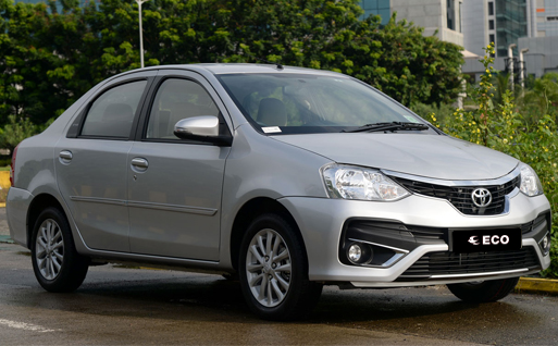 Toyota Etios on rent