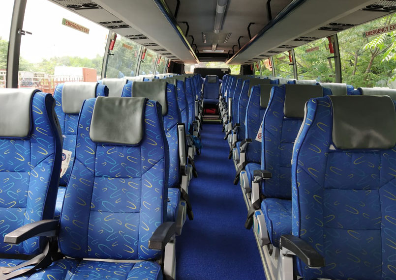 volvo bus interior